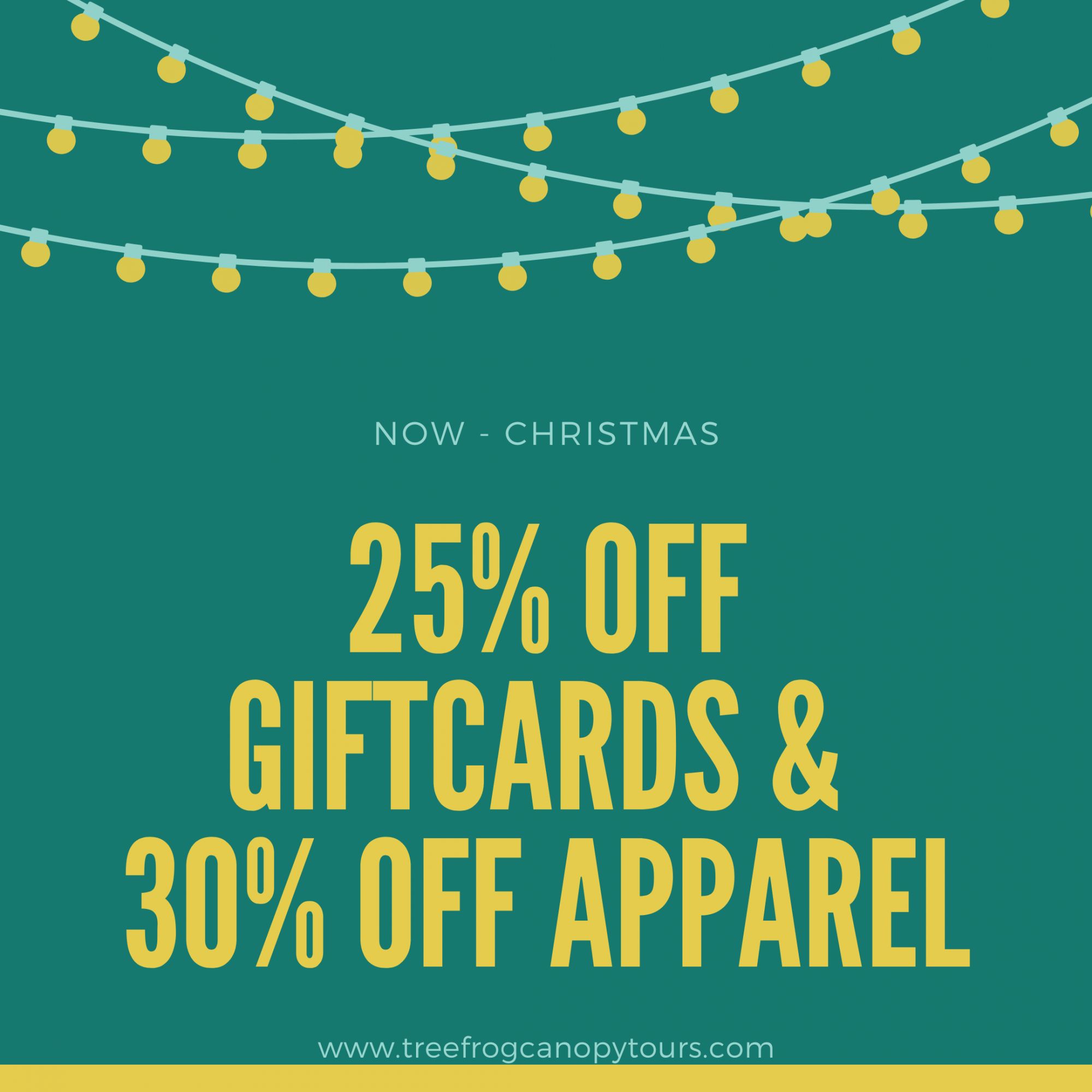 25% OFF ALL GIFTCARDS & 30% OFF ALL APPAREL