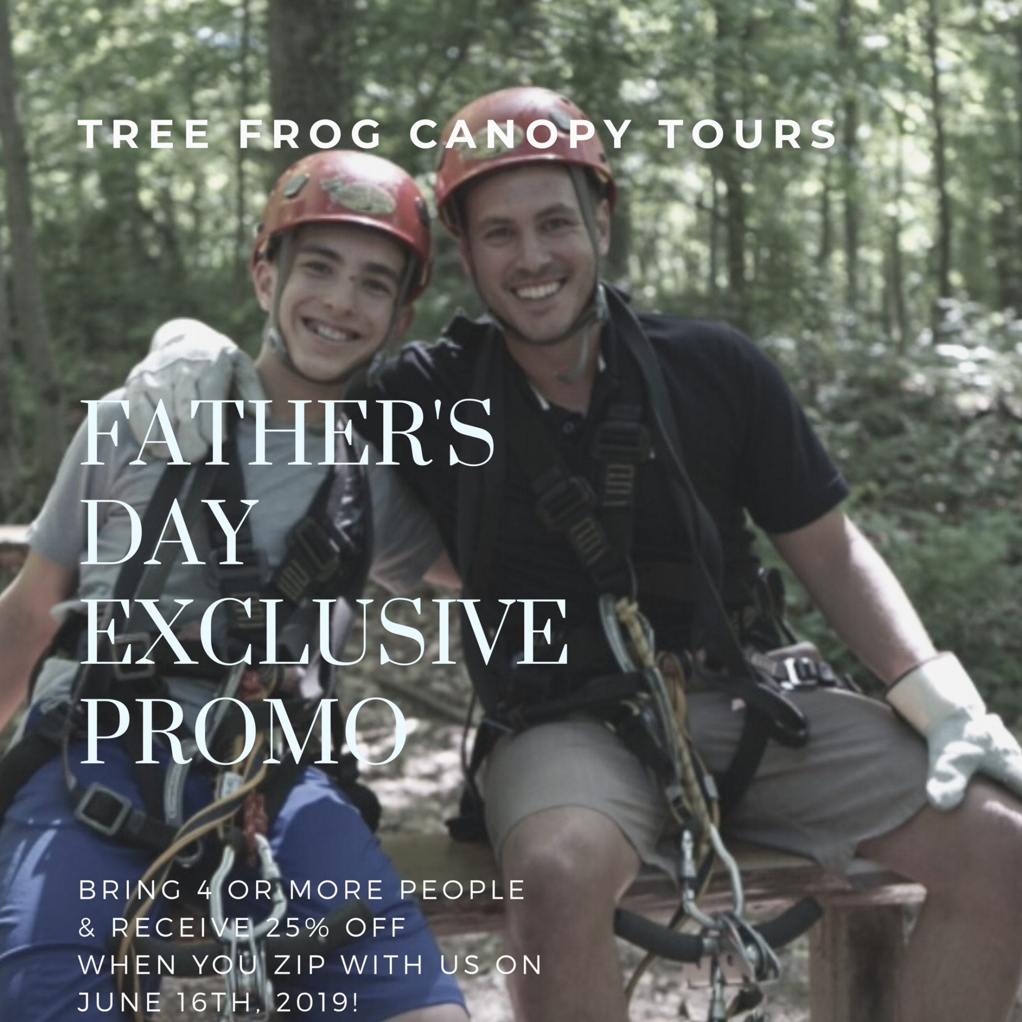 Save 25% on Father's Day with a group of 4 or more!