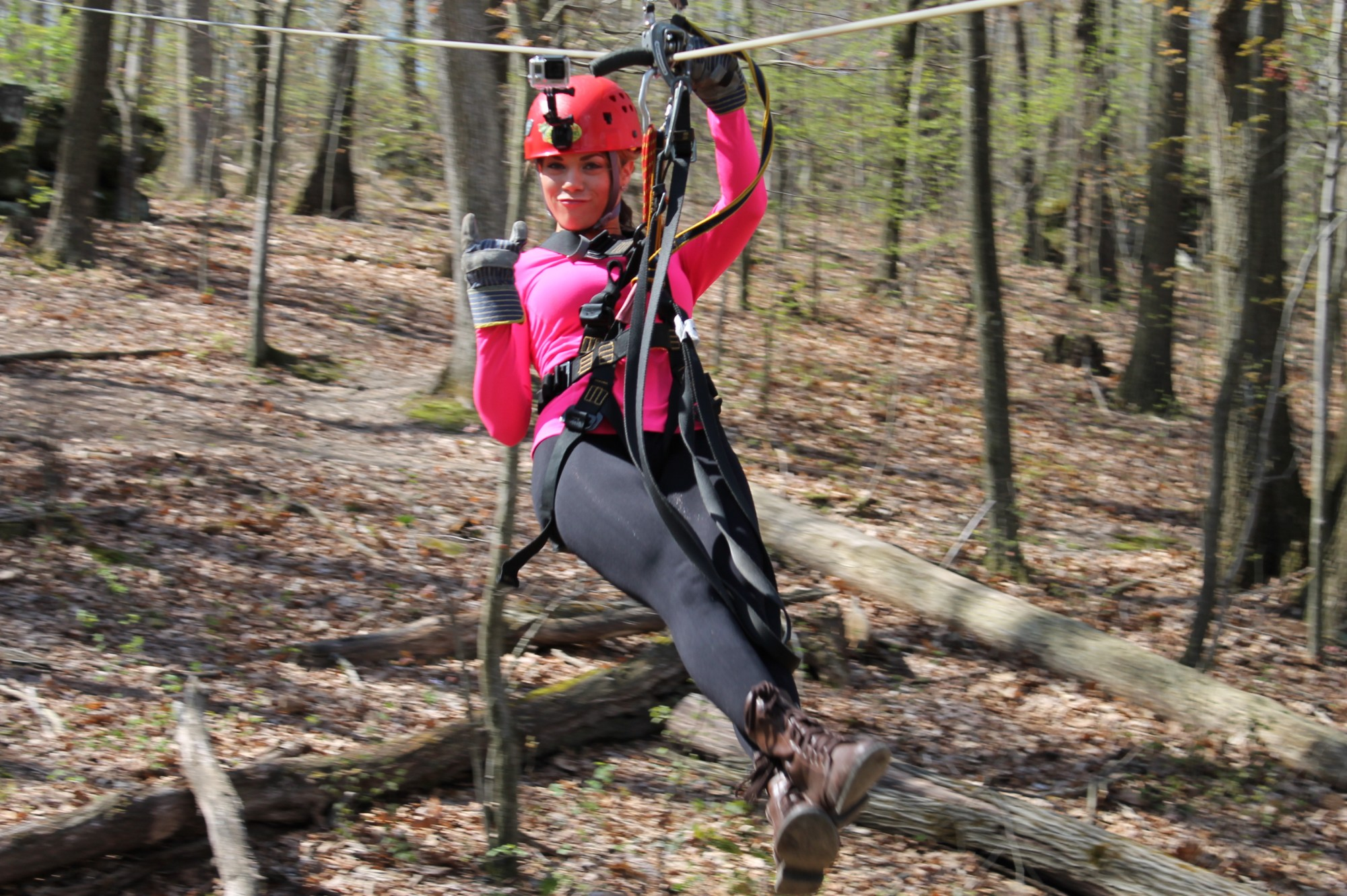 Miss Ohio Zipping at Tree Frog Canopy Tours