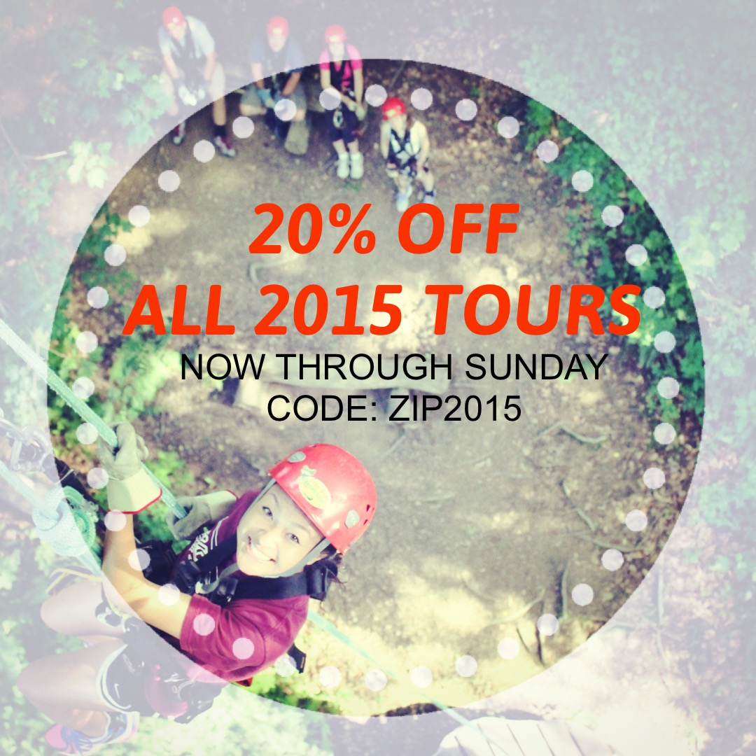 20% OFF ALL 2015 TOURS!